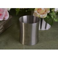 Wholesale 23 Oz Silver round metal candle holder bulk with Lid , customized shapes from china suppliers