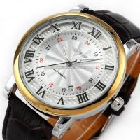 Wholesale Durable Leather Classic Wrist Watch Winner With Automatic Mechanical Date from china suppliers