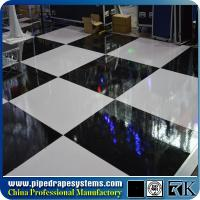 Wholesale Modular system white and black dance floor for wedding,exhibition from china suppliers