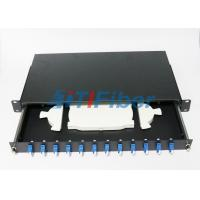 Buy cheap 12 Duplex Port  Fiber Optic Terminal Box with 19 Inch Standard Structure from wholesalers