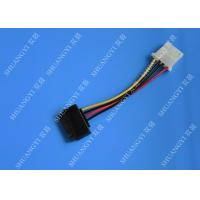 5.08mm Braided Molex 4 Pin SATA Power Cable 15 Pin Male To Male For Hard Disk