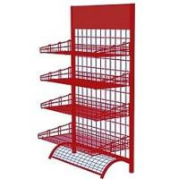 Wholesale Wire Mesh Display Stands Display Racks For Retail Stores Silver / Red / Black from china suppliers