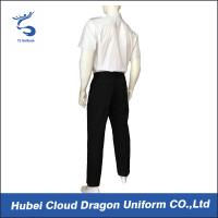 Quality OEM ODM White Security Guard Clothing Adjustable Cuff With Embroidered / Printed Logo for sale
