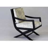 Wholesale OAK Wood Dining Room Furniture Modern Arm Chairs With Cream Fabric Upholstery from china suppliers