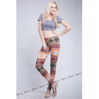 Wholesale Woman's Spandex Allover Printed Knit Leggings from china suppliers