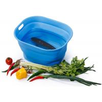Wholesale Unbreakable Food Grade Silicone Collapsible Bucket / Food Storage Silicone Picnic Basket from china suppliers