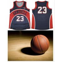Wholesale Men Antiwear Sublimated Basketball Uniforms 100 % Polyester Fabric from china suppliers