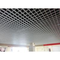 Buy cheap Eco - friendly Grid Metal Suspended Ceiling Custom White For Supermarket from wholesalers