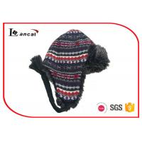 Wholesale Kids Faux Fur Lined Winter Trapper Hat Milti Color Acrylic Fabrics from china suppliers