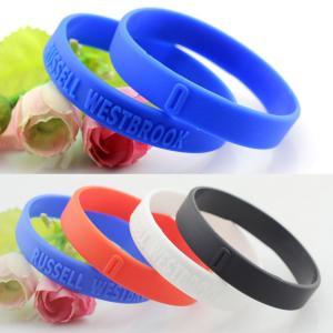 Quality customized logo silicone bracelets wristband for sale
