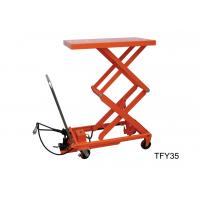 Wholesale Mobile Pneumatic Lift Cart , Double Scissor Lift Table Free Maintenance Design from china suppliers