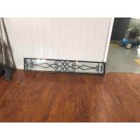 """Wholesale 08""""*48"""" Wrought Iron And Glass Entry Doors Sandblasting Zinc Coating from china suppliers"""