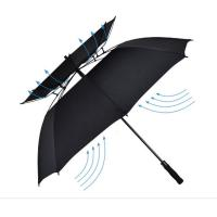 Wholesale 62 Inch Durable Double Canopy Windproof Golf Umbrella Resisting Strong Fierce Wind from china suppliers