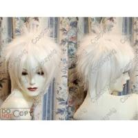 Buy cheap Short spiky layered white wig cosplay reborn Byakuran 0012 from wholesalers