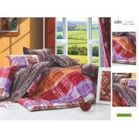 Quality Patterned Printed Decorative Plum Full Size 100 Cotton Personalized Bed Sheet Set for sale