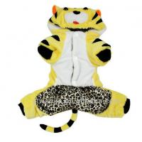 Quality Personalized Tiger Costume For Dogs Pomeranians , Chihuahua Cotton Clothes Customized for sale