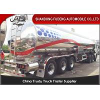 Wholesale 45CBM Stainless Steel Tanker Trailers , Water Tanker Truck 28 Ton Landing Gear from china suppliers