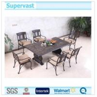 Wholesale Luxury Cast Aluminum Patio Furniture , Outdoor Dining Sets 7 Piece With Hand Brush from china suppliers