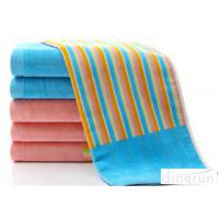 Wholesale Customize Stripe Face Wash Towel Fashionable For Gym / Swimming from china suppliers