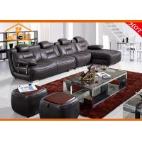 Wholesale modern italian cheap black tufted microfiber leather sleeper reclining sectional corner sofa set factory sofa sale from china suppliers