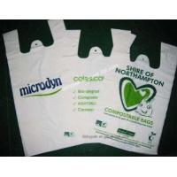 Wholesale Cheap Custom HDPE/LDPE plastic t-shirt shopping bags printing from china suppliers