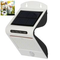 Wholesale 2017 New led solar powered wall Lights in white with 1pcs 2200mah battery inside from china suppliers