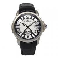 Wholesale Fashionable Men's Stainless Steel Watches with high performance genuine leather strap from china suppliers