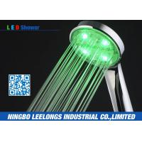 Wholesale Green Color Handheld Led Rain Shower Head without battery For Bath from china suppliers