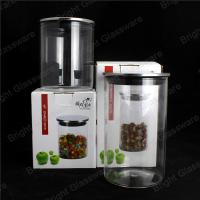 Wholesale Airtight Glass Storage Jar With Metal Lid For Kitchenware from china suppliers