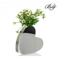 Wholesale metal Decorative flower vase,heart shape wedding vase from china suppliers