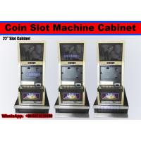 "Wholesale Slot cabinet vedio game cabinet arcade machine cabinet  Dual 19"" or 21"" Slot Cabinet coin operated gambling machine from china suppliers"