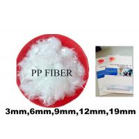 Wholesale OEM Strong Linking Force Concrete Polypropylene Fiber HS Code 3916100000 from china suppliers