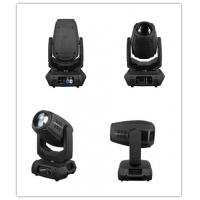 Buy cheap Linear motorized Zoom moving head LED DJ Light with fan 16 / 18 DMX channels from wholesalers