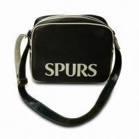 Wholesale Sport Bags, Made of PU Leather, with Silkscreen Logo, Measures 34 x 28 x 10cm from china suppliers