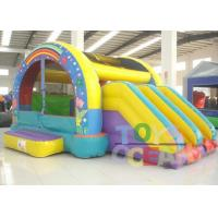 Buy cheap PVC Gaint Inflatable Bouncer Playground Combo With Two Slide For Kids Outdoor Play from wholesalers