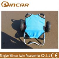 Wholesale Platform Aluminium Boat Kayak Canoe Carrier , Transport Fishing Cart Wheels from china suppliers