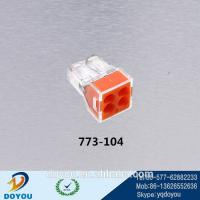 Wholesale The most popular quick connect electrical push wire wago Connector 773-104 from china suppliers