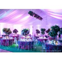 Wholesale Decoration Outdoor Aluminum Wedding Reception Tents Colorful Lighting / Lining from china suppliers