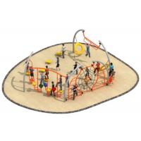 Buy cheap 700*580*250cm Luxury Design Rope Climbing Structure Playground Environmental from wholesalers