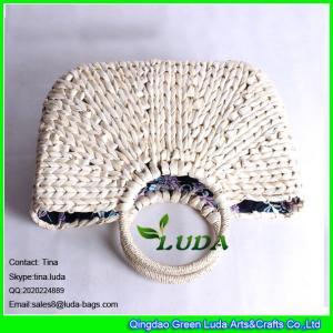 Quality LDYP-027 macrame women hobo handbags cornhusk natural straw beach bag for sale