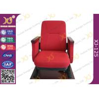 Wholesale Contoured Seat Cushion Auditorium Chairs Strong Metal Base With Wood Armrest from china suppliers