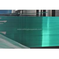 Wholesale Green Interior Decorative Tempered Safety Glass , Large Tempered Glass Wall Panels from china suppliers