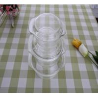 Wholesale 1 Quart Oval Pyrex Glass Casserole Dishes With Lids For Kitchen Transparent from china suppliers