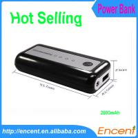 Wholesale Mobile Phone 2600mAh Travel Charger Power Bank from china suppliers