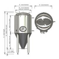 Wholesale 1000L 2000L cone fermenter with cooling jacket FVs, BBT from china suppliers