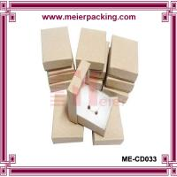 Wholesale Square kraft jewelry paper box with cotton for earring/bracelet/necklace ME-CD033 from china suppliers
