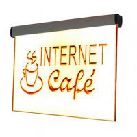 Wholesale 6mm led illuminated acrylic sign for indoor advertising from china suppliers