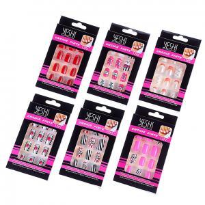 Quality Wholesale 2016 New Design Multicolor Adult False Nails Bride Printing Art Tips Fake Nails for sale