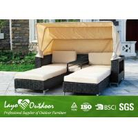 Wholesale Folding Awning Double Wide Chaise Lounge Indoor Rattan Sun Chairs Loungers Alum Frame from china suppliers
