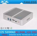 Wholesale Fanless Mini PC Intel Core i5 5200u with HD Graphics 5500 Mini ITX PC with Dual Gigabit La from china suppliers